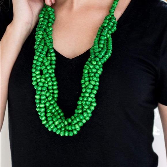 Paparazzi Tahiti Tropic Green Necklace